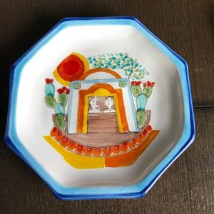 VINTAGE GIOVANNI DESIMONE HAND PAINTED PLATE ITALY